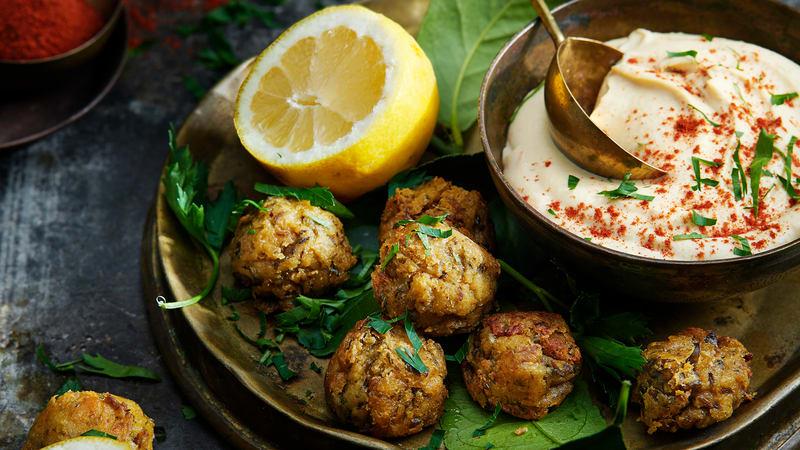 Falafel og hummus