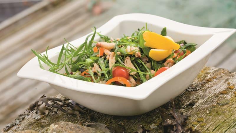 Salat med krabbe