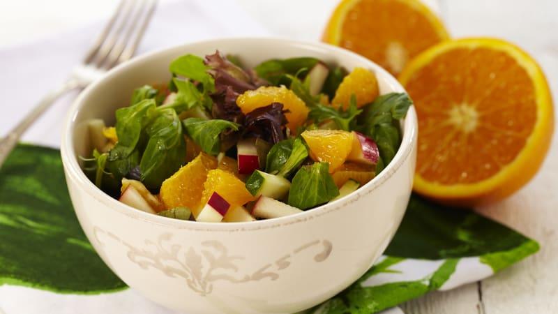 Vintersalat med appelsin og squash