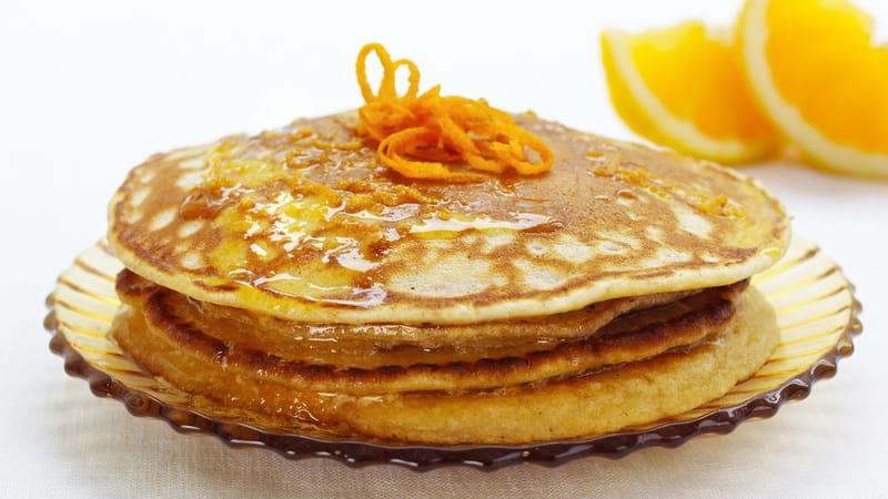 Skotske pannekaker med appelsinsmør