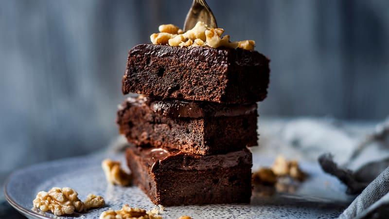 Brownies med daim og valnøtter