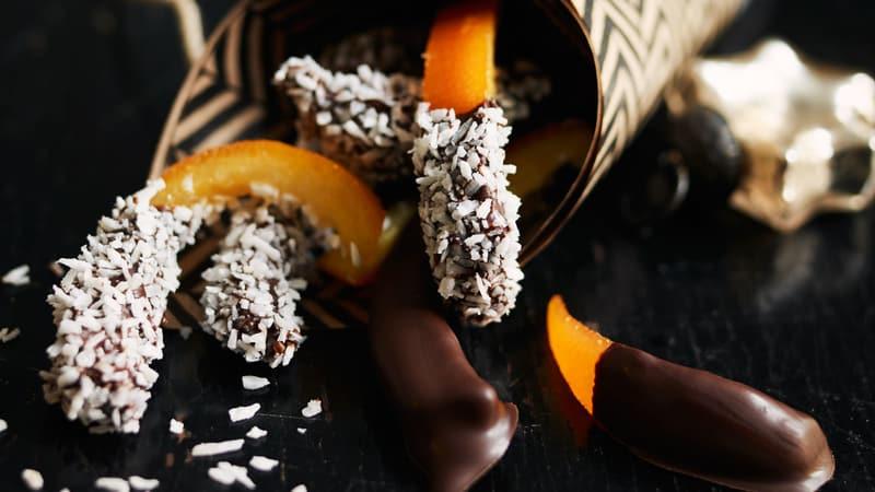 Kandisert sitrus med sjokolade