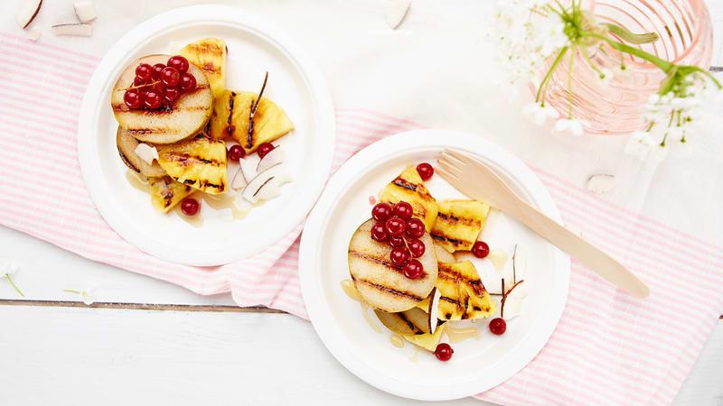 Grillet ananas og pære