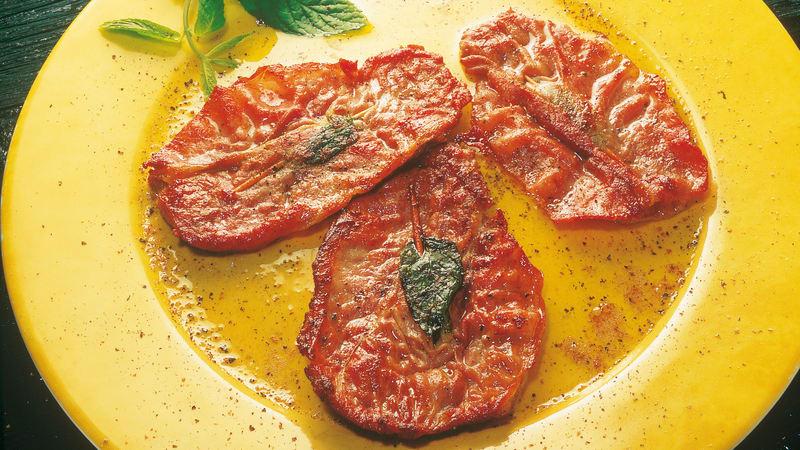 Saltimbocca av svinekjøtt