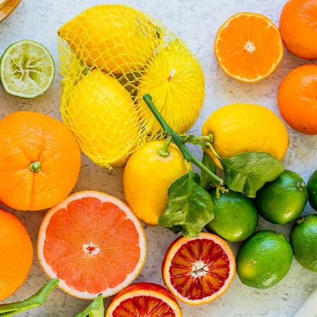 Søte og syrlige sitrusfrukter