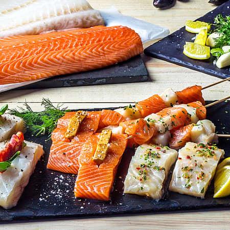 Stort utvalg fersk fisk