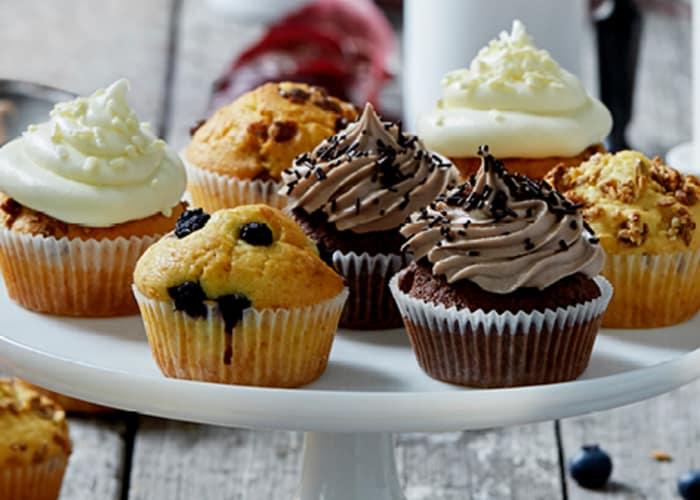 Grunnoppskrift på lyse muffins
