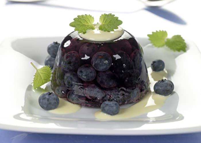 Gelé med blåbær