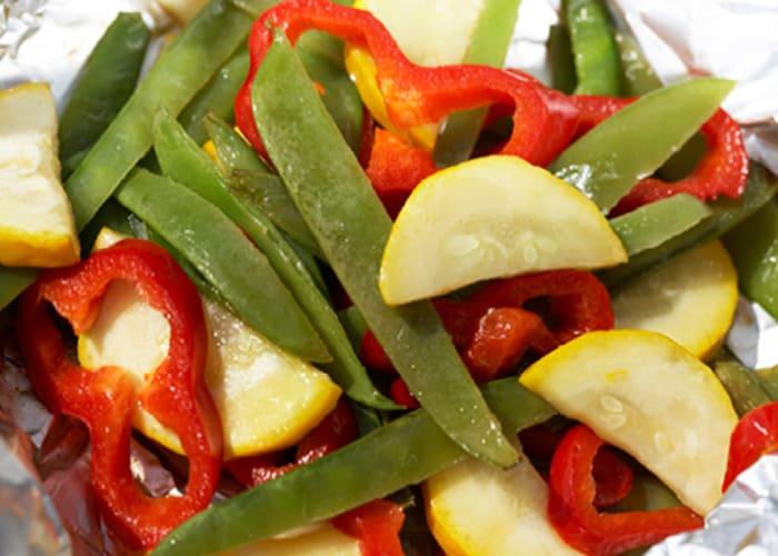Foliebakte grønnsaker