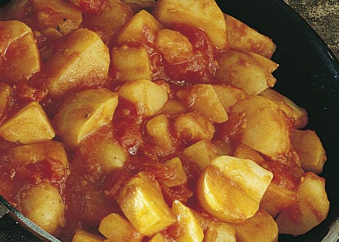 Poteter i tomatsaus til tapas