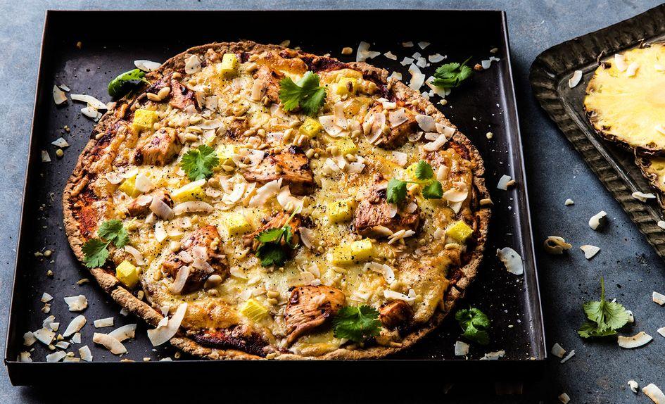 Kyllingpizza med ananas
