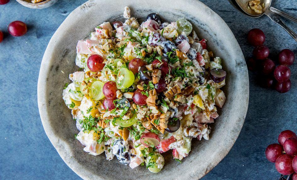 Hjemmelaget waldorfsalat
