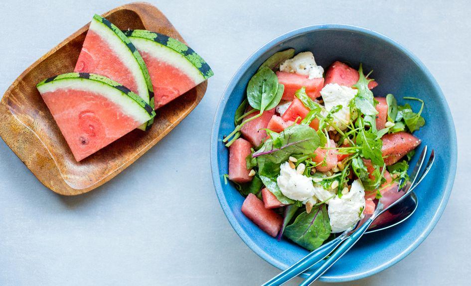 Salat med vannmelon