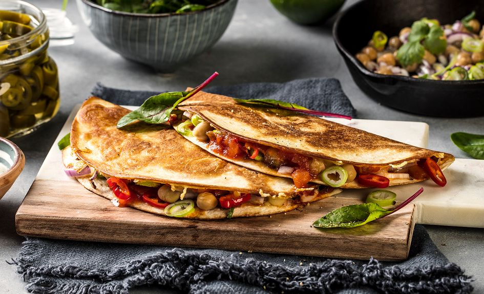 Vegetar quesadillas