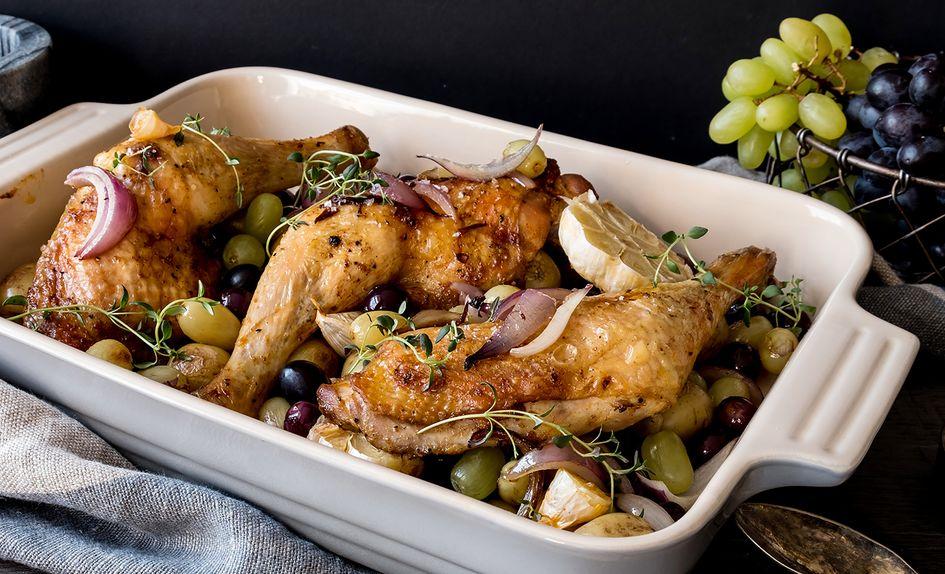 Kyllinglår i form med druer