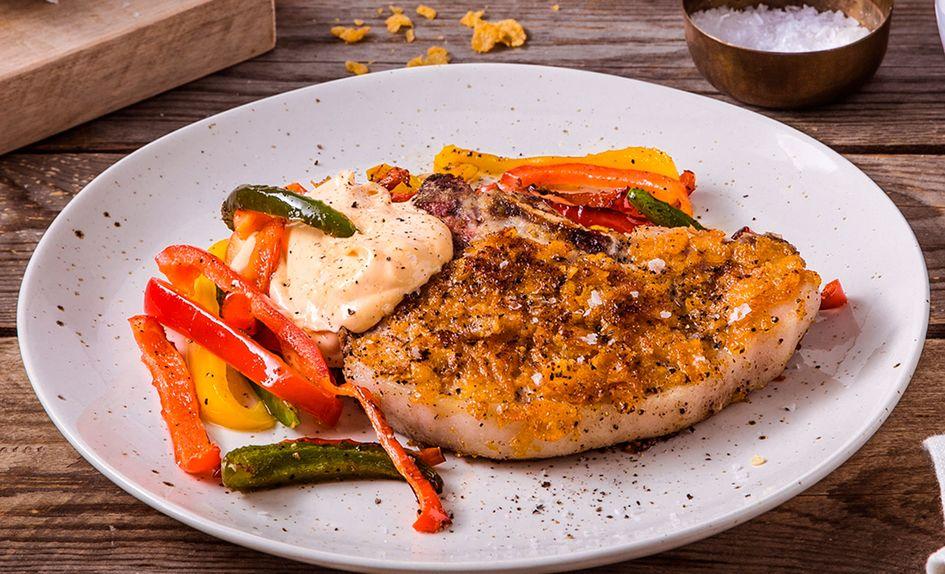 Sommerkoteletter med stekt paprika