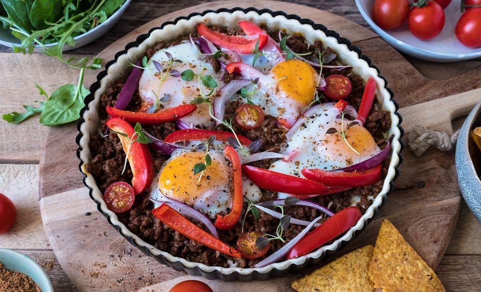 Tacopai med kjøttdeig
