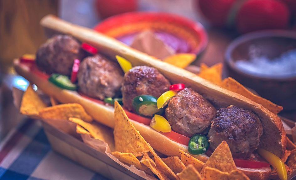 Taco sandwich med kjøttboller
