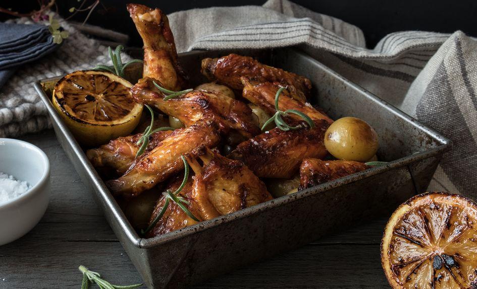 Kyllingvinger med perlepoteter