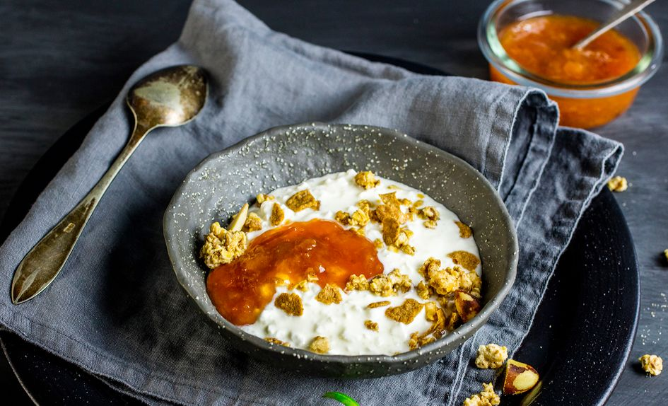 Cottage cheese med granola