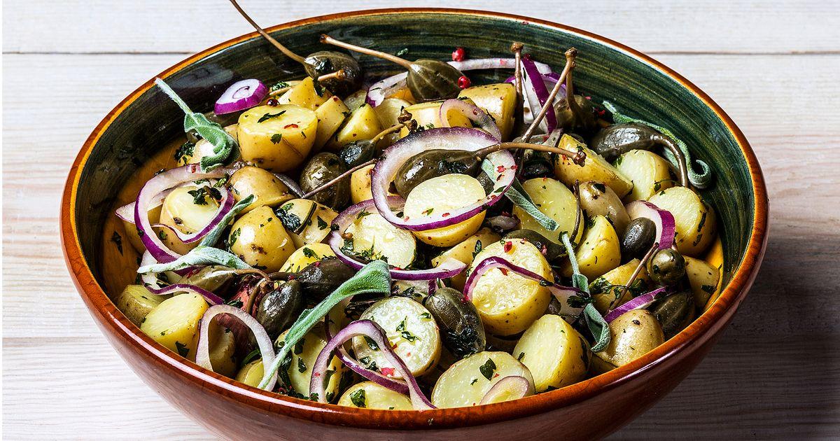 potetsalat med skall