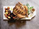 Helstekt kylling med ovnsbakte rotgrønnsaker