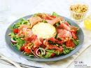 Salat med chèvre og spekeskinke