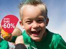 60% rabatt på idrettsfrukt
