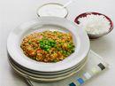 Indisk kyllinggryte med raita og ris