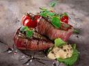 Indrefilet av okse med potetmos og ovnsbakte tomater