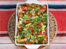 Enchiladas med kjøtt chilimania, vårløk og koriander