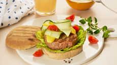 Grillet kalkunburger med mango