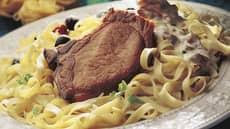 Koteletter med pasta