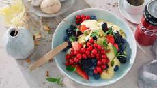 Sabayonne med friske bær