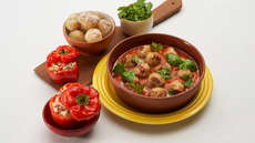 Kyllingkjøttboller med spicy paprikasaus