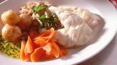 Tradisjonell kokt torsk