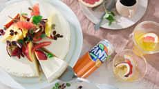 Ostekake med frukt og bær