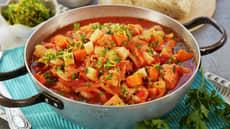 Fiskegryte med reker og tomat