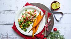 Spicy torsk med ovnsbakte søtpoteter