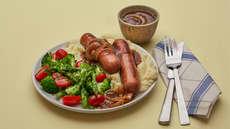 Oste- eller vegetargrill med hjemmelaget potetstappe