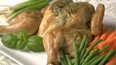 Utbrettet kylling med pesto