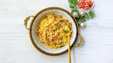 Pasta carbonara med spekeskinke