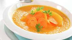 Gulrotsuppe med sjalottløk og appelsin