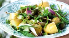 Potetsalat med eple og kapers