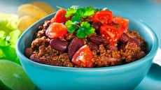 Chili con carne med kjøttdeig og bønner