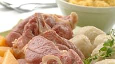 Salt kjøtt med kålrotstappe
