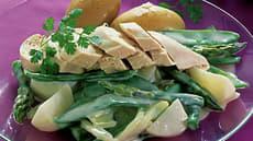 Kyllingfilet med stuede sommergrønnsaker