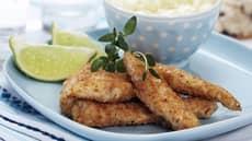 Sprø kylling med hvitløksmajones