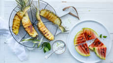 Vannmelon og ananas på grillen