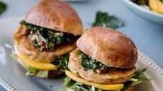 Fiskeburger  med salsa verde